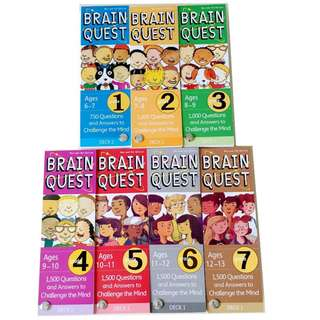 7 SETS OF BRAIN QUEST CARDS (AGES 6 TO 13)