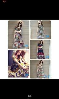 Summer Floral Long Maxi Dress