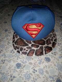 Snapback topi supermen leopard