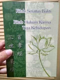 Buku #tisgratis Kitab Seratus Bakti Berbakti Pada Orang Tua Pelajaran Karakter Buddha #carouhb Buddhist