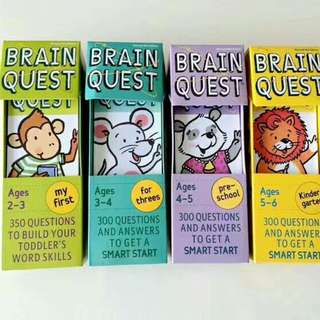 11 SETS BRAIN QUEST CARDS (FREE DELIVERY)