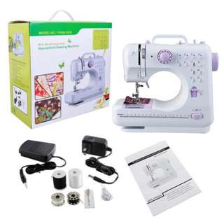 FHSM-505 new updated 12-stitches Sew easy mini portable household sewing machine with button hole sewing - NEW