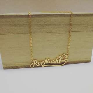 925 silver diy name necklace