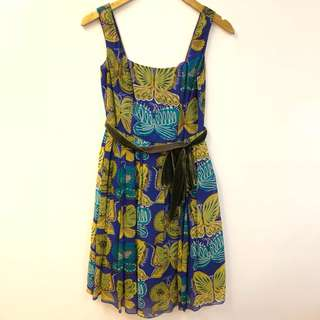 Anna Sui butterfly dress size 4