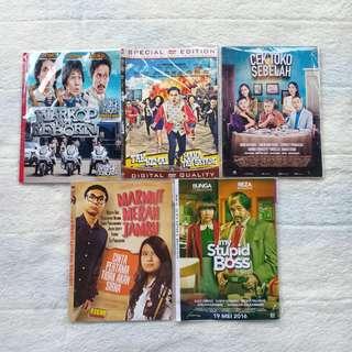 KASET DVD FILM KOMEDI INDONESIA WARKOP REBORN TAK KEMAL MAKA YAK SAYANG CEK TOKO SEBELAH MARMUT MERAH JAMBU STUPID BOSS MURAH PRELOVED