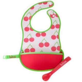 B. Box Travel Bib + Spoon