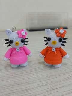 Handmake quilling Hello Kitty