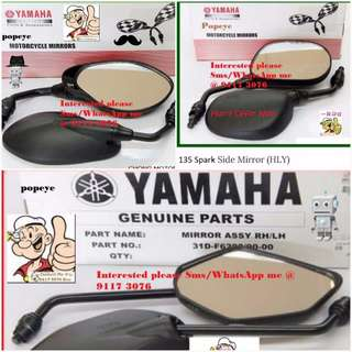 0607** YAMAHA Genuine Parts **Side Mirror** Spark, FZ16, Jupiter MX, SNIPER 150, Etc....