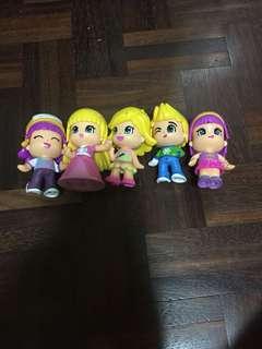 5 Pack Pinypon dolls