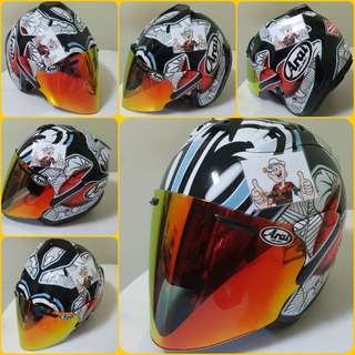 0607*** TSR NAKANO CONVERT ARAI v Gold Visor Helmet For Sale 😁😁Thanks To All My Buyer Support 🐇🐇 Yamaha, Honda, Suzuki