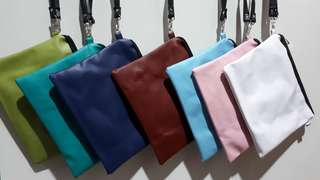 Tas Selempang / Sling Bag Vinyl Light Colour ( Lime Tosca Blue Maroon Sky Blue Pink White )