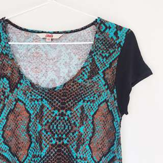 *as NEW* JAG printed tee top size XS