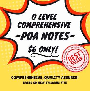 🚚 (Usual price $15) Principles of Accounting Notes (O Level)