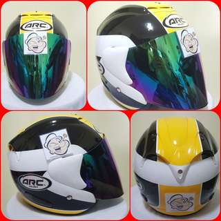 0607👀👁 ARC AR1 TIARA YELLOW v Rainbow Visor Helmet For Sale 😁😁Thanks To All My Buyer Support 🐇🐇 Yamaha, Honda, Suzuki