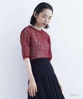🚚 全新merlot plus同款 18夏 日系透視蕾絲衫