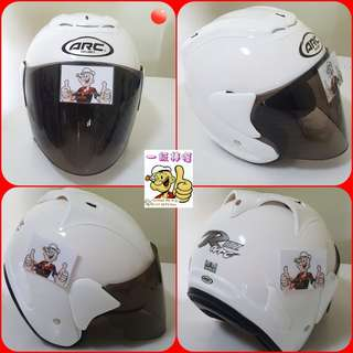 0607👀👁 ARC RITZ White v TINTED Visor Helmet For Sale 😁😁Thanks To All My Buyer Support 🐇🐇 Yamaha, Honda, Suzuki