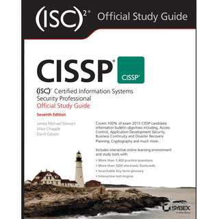 CISSP ISC2 Certified Information Systems Security Professional Official Study Guide 7th Seventh Edition by James Michael Stewart, Mike Chapple, Darril Gibson - Sybex