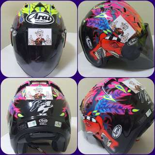 0607👀👁 TSR SCOTT RUSSELL CONVERT ARAI v Tinted Visor Helmet For Sale 😁😁Thanks To All My Buyer Support 🐇🐇 Yamaha, Honda, Suzuki