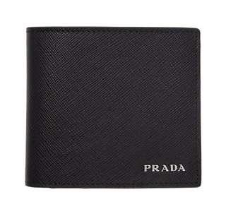 Prada Black & Red Bifold Wallet