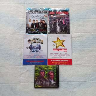 KASET CD DVD MUSIK ONE DIRECTION DAHSYAT AIR SUPPLY KARAOKE MURAH PRELOVED
