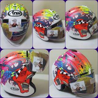 0607👁👀*** TSR SCOTT RUSSELL CONVERT ARAI Helmet For Sale 😁😁Thanks To All My Buyer Support 🐇🐇 Yamaha, Honda, Suzuki