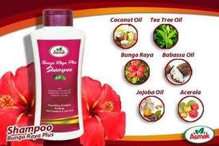 Shampoo Bunga Raya Plus & Sevenis Oil