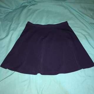 Valley Girl Navy Blue Tennis Skirt