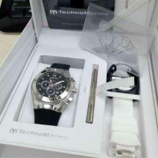 TechnoMarine Cruise Original,女士手錶,不銹鋼塑料錶殼,可更換矽膠錶帶,日本石英機芯