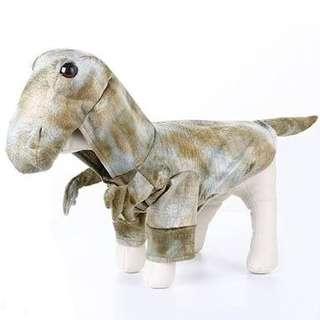 Dino costume for dog
