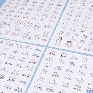 🚚 [instock] cute korean emoticon stickers