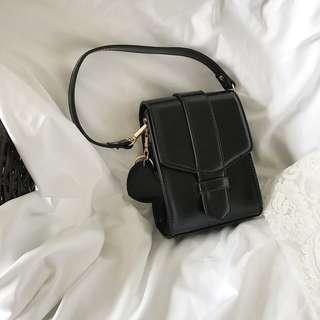 Korean Style Retro Elegant Simple Frame Women Mini Sling Bag