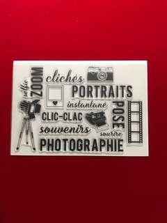 Camera scrapbook clear stamps
