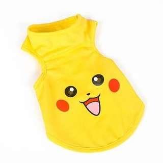 Pikachu shirt for dog