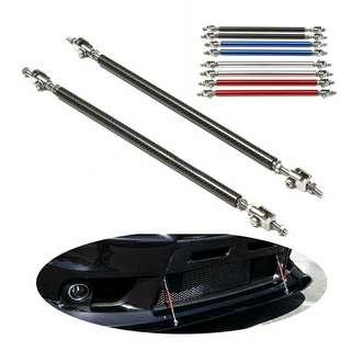 Brand new 2pcs universal adjustable front rear bumper splitter rod support for sale.
