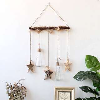 RENTAL - WOODEN BRANCH WITH HANGING STARS & FLASKS