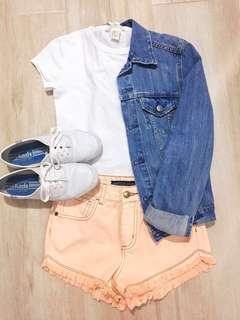 Pastel Orange Summer Shorts