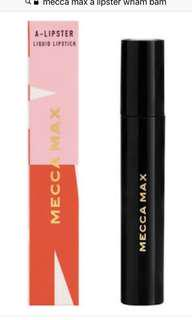 Mecca Max A-Lipster Liquid Lipstick Wham Bam & Hot to Troy