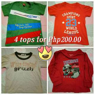 Bundle 4 Tops Branded shirts