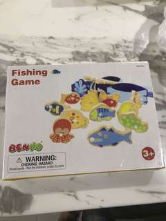 Brand new wooden fishing toy