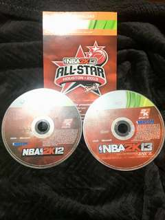 Take all for 1k NBA 2k13 and 2k12 for Xbox 360