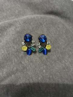 Blue crystals earrings for sale