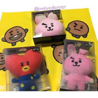 (INCOMING STOCK: 23RD) BT21 PLUSH BAG CHARM + PLUSH HEAD CHAIN