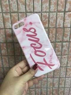 iPhone Case 7plus 粉紅色大理石紋