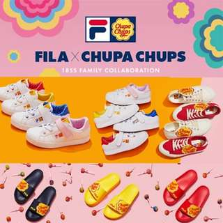 6af6f634bce  FILA X CHUPA CHUPS  7type Limited Edition Sneakers Shoes   Slipper   Court  Delux