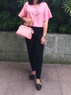 Baju Crop Pink