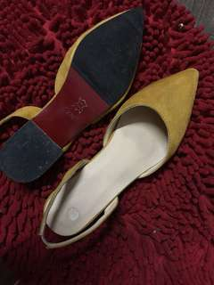 Include postage. Mustard flat shoes.