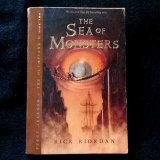 Sea of Monsters by Rick Riordan (paperback)