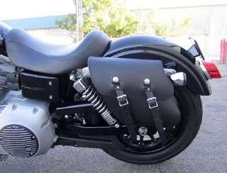 Saddle Bag leather black harley triumph royal enfield