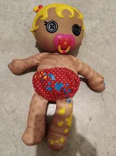 Lalloopsy Baby Doll w/pacifier & Baby bottle