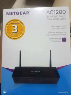 Sealed: Netgear AC1200 Smart WiFi Router Dual Band Gigabit